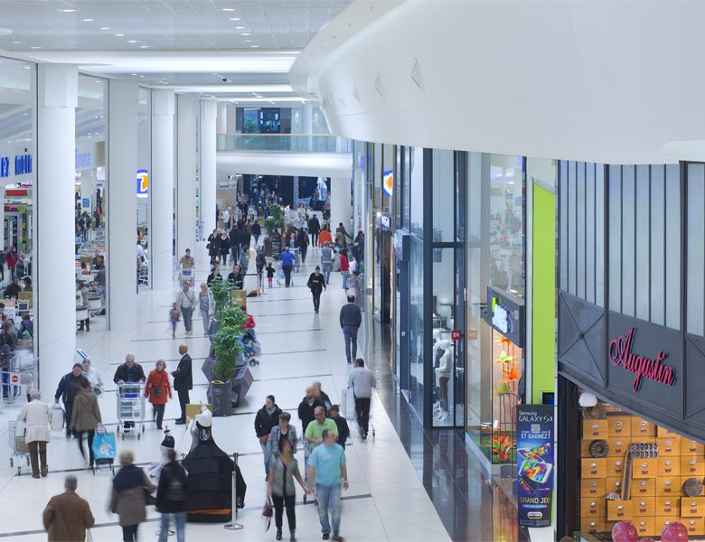 Centre commercial Saint Grégoire Le centre, galerie gérée par Lamotte Commerces