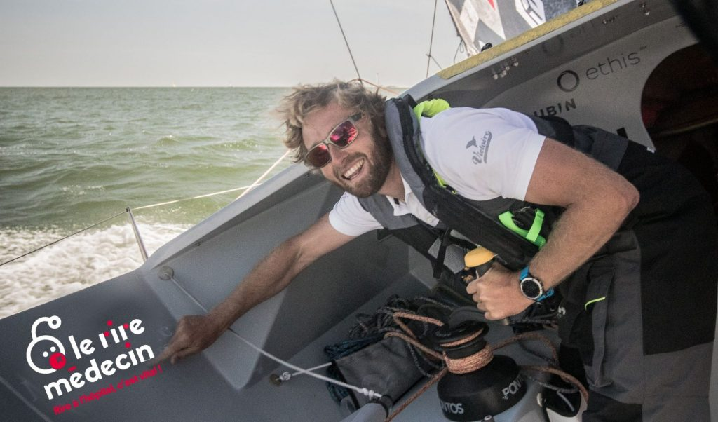 Luke Berry, sur le voilier Class 40