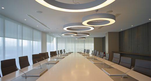Salle de réunion siège social de la Banque Populaire de l'Ouest