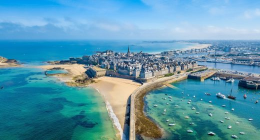 Vue aérienne de Saint-Malo