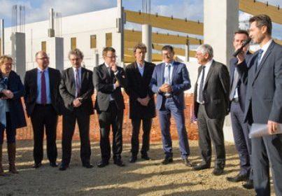 Pose de la 1ère pierre de la nouvelle usine Cooper Standard France à Rennes